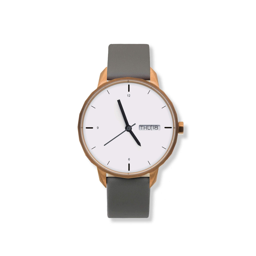 42mm Copper Watch Grey Strap