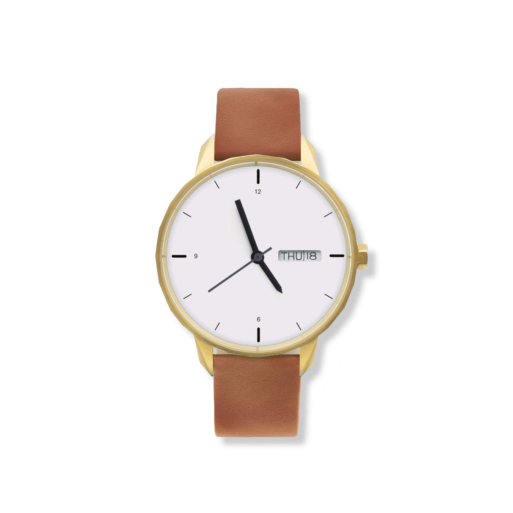 42mm Gold Watch Camel Strap