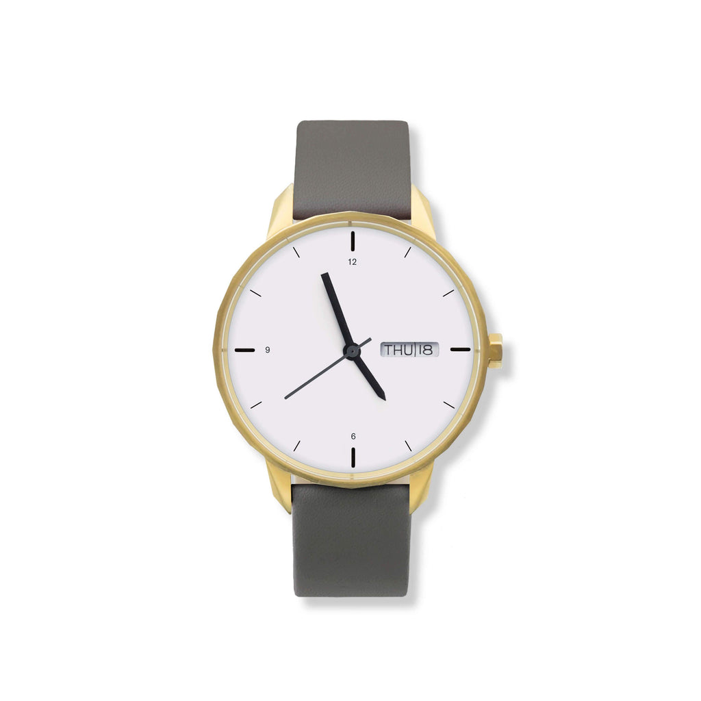 42mm Gold Watch Grey Strap