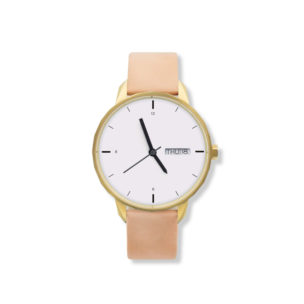 42mm Gold Watch Nude Strap