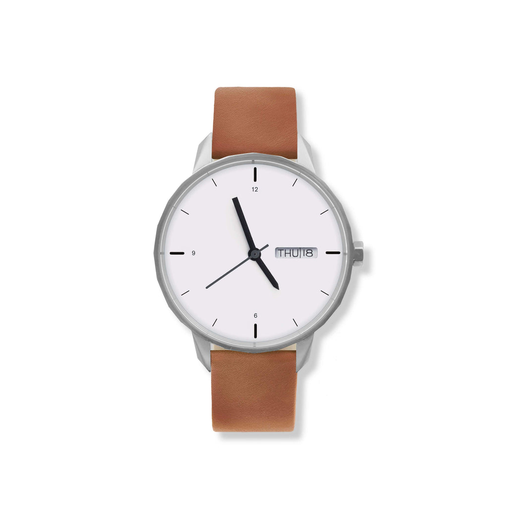 42mm Silver Watch Camel Strap