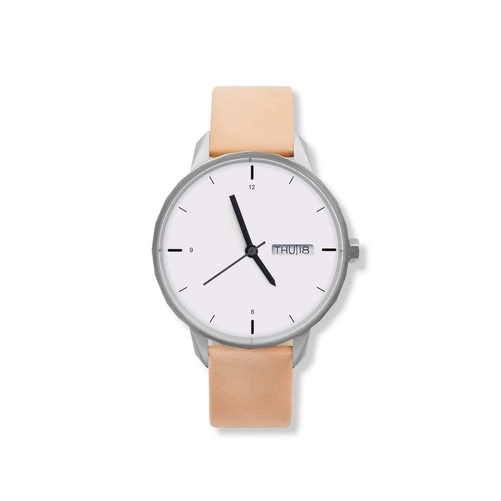 42mm Silver Watch Nude Strap