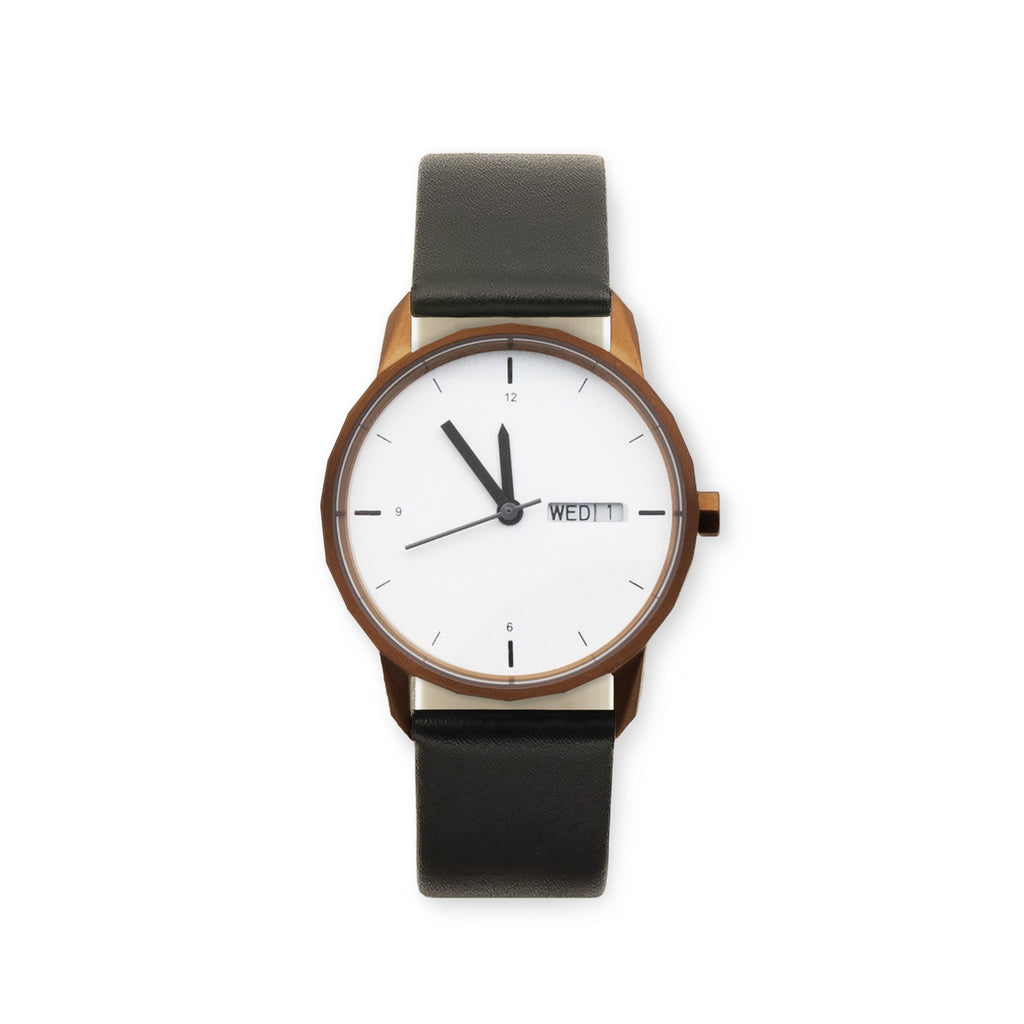 34mm Copper Watch Black Strap