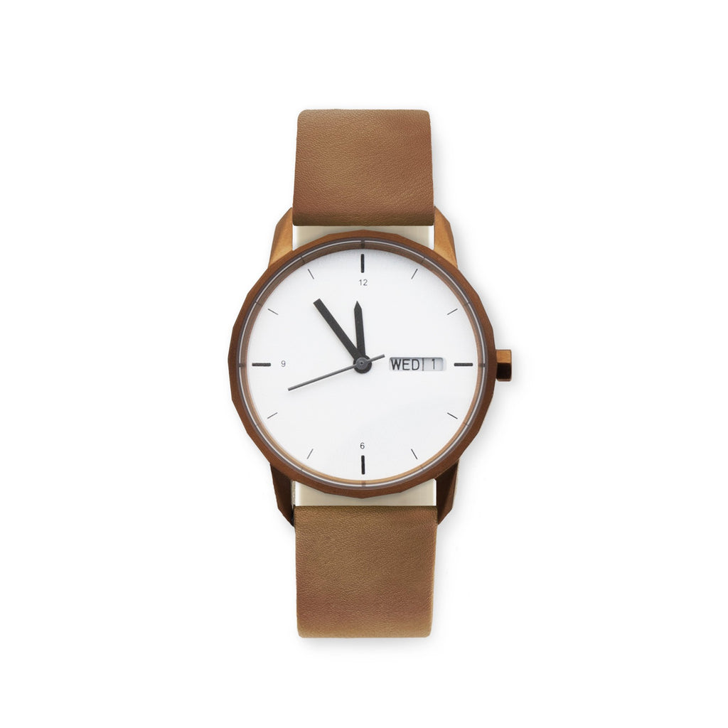 34mm Copper Watch Camel Strap