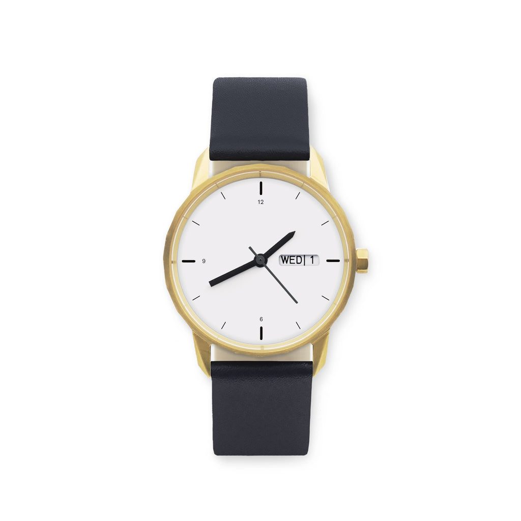 34mm Gold / Navy Strap
