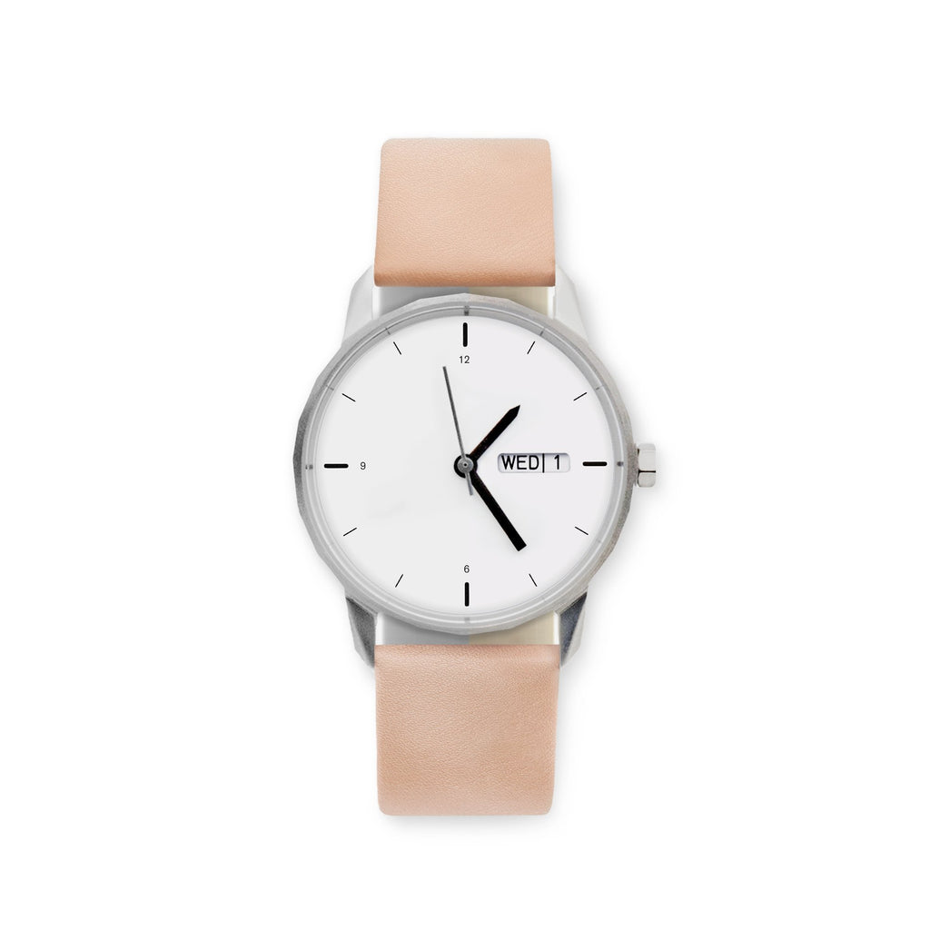 34mm Silver Watch Nude Strap