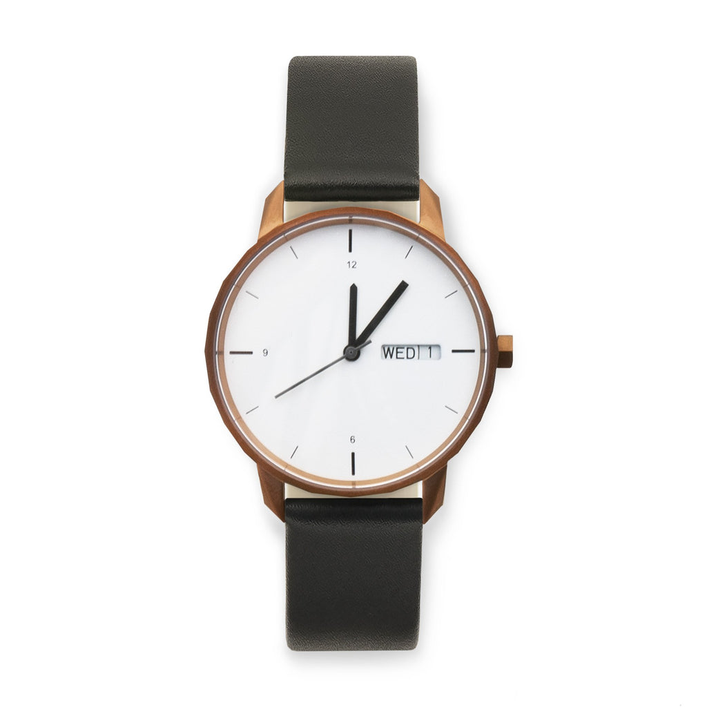 38mm Copper Watch Black Strap