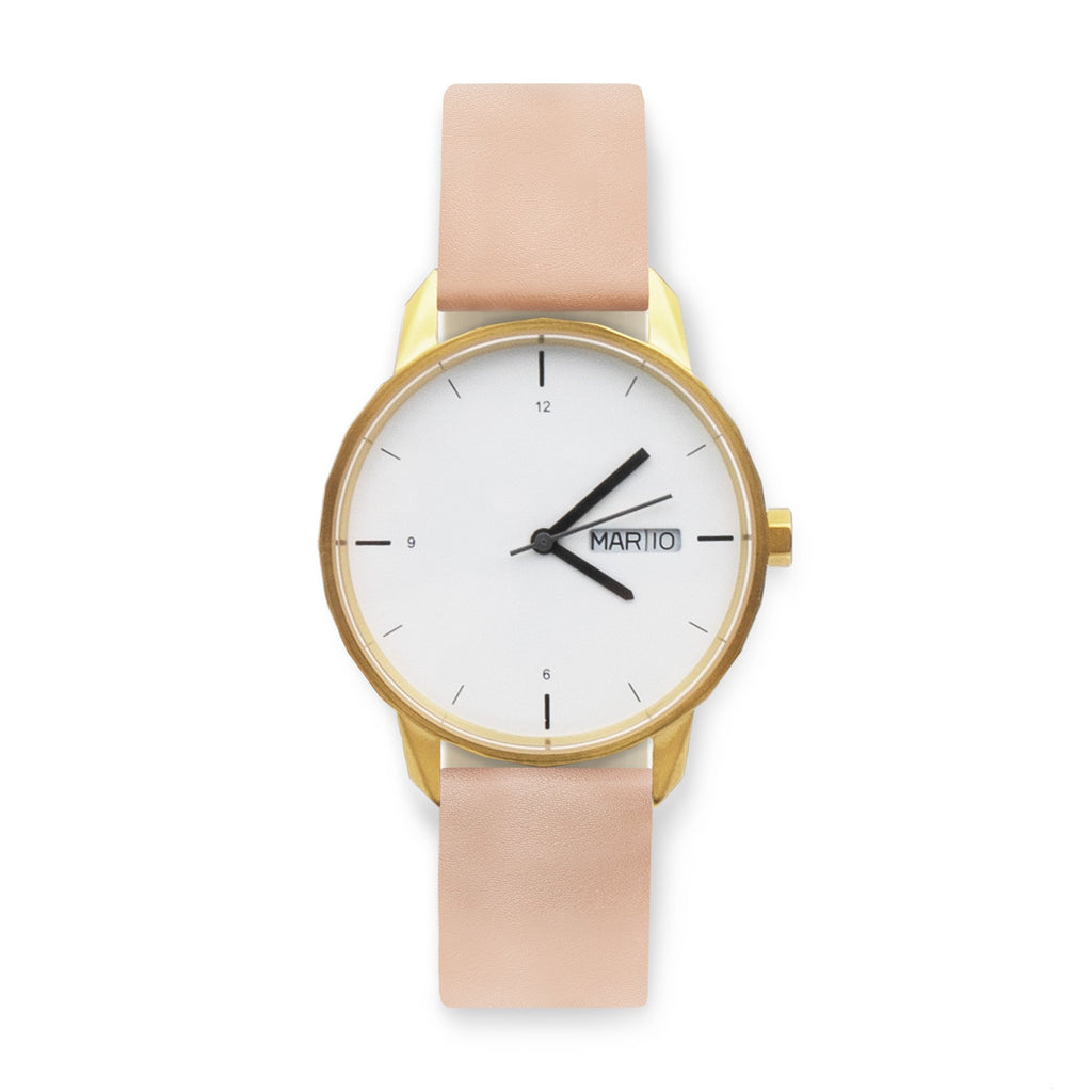 38mm Gold Watch Nude Strap