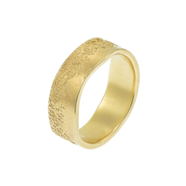 Men's 14k Gold Organic Band - Hozoni Designs