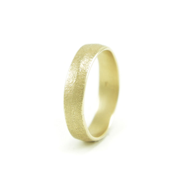 Women's 14K Gold Organic Leaf Band - Hozoni Designs