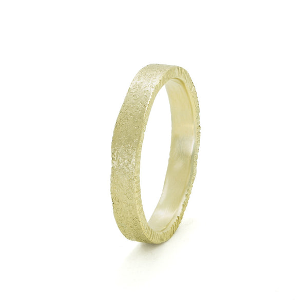 Women's 14K Gold Uneven Edge Band - Hozoni Designs