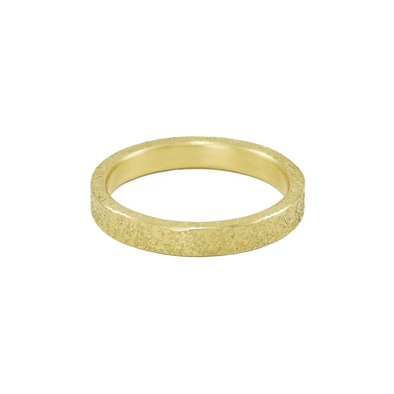 Women's 14K Gold 3mm Rustic Band