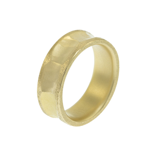 Men's 14K Gold Indented Band - Hozoni Designs