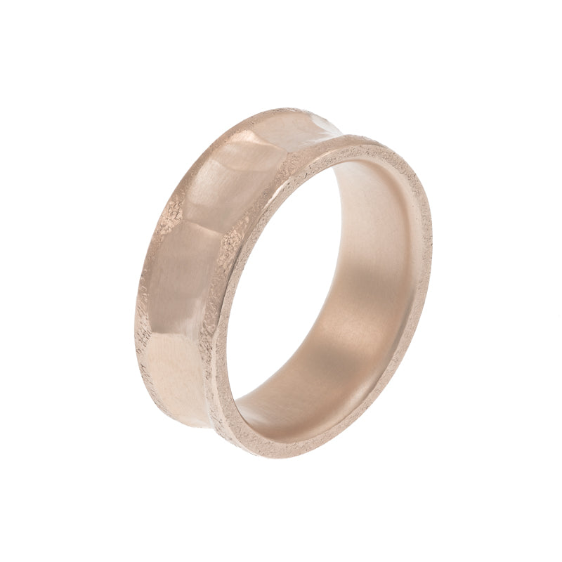 Men's 14K Gold Indented Band