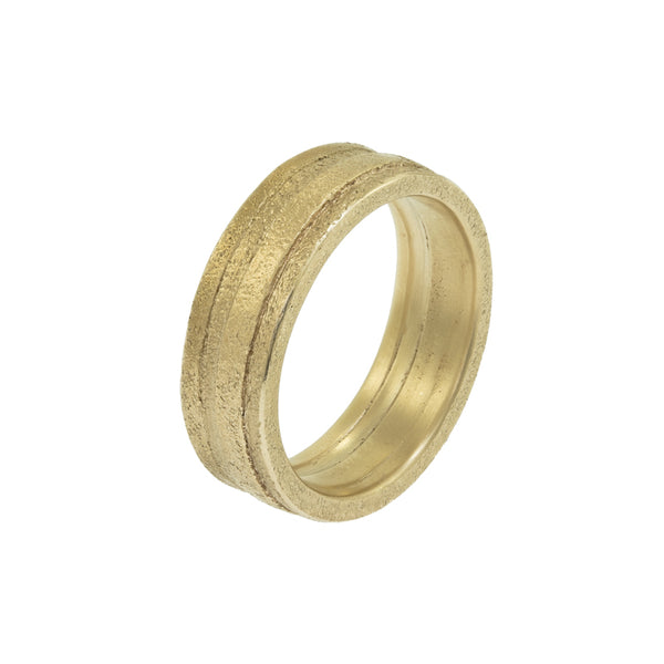 Men's 14K Gold Uneven Band