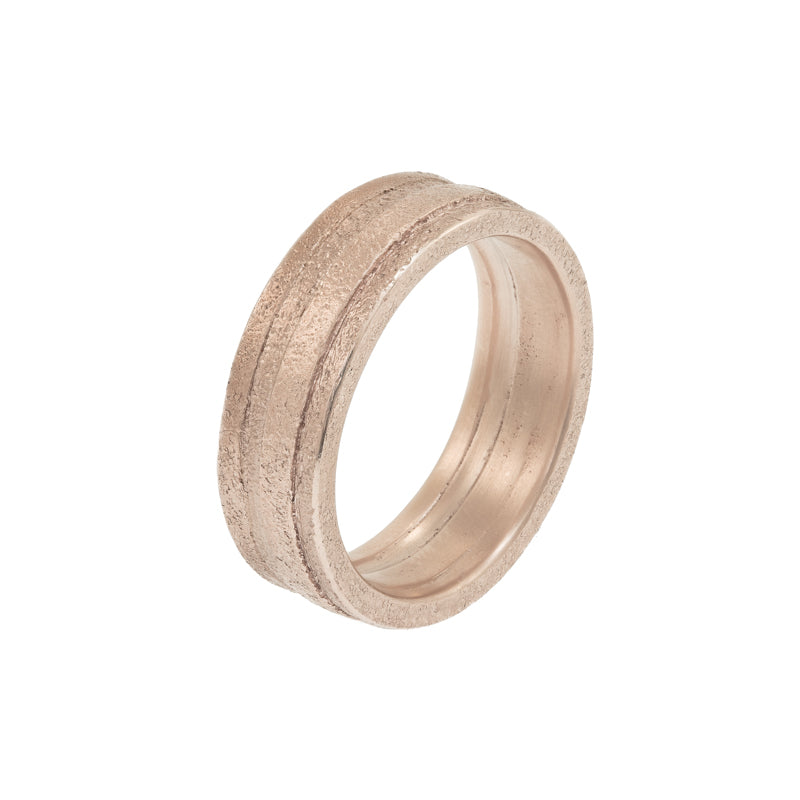 Men's 14K Gold Uneven Band - Hozoni Designs