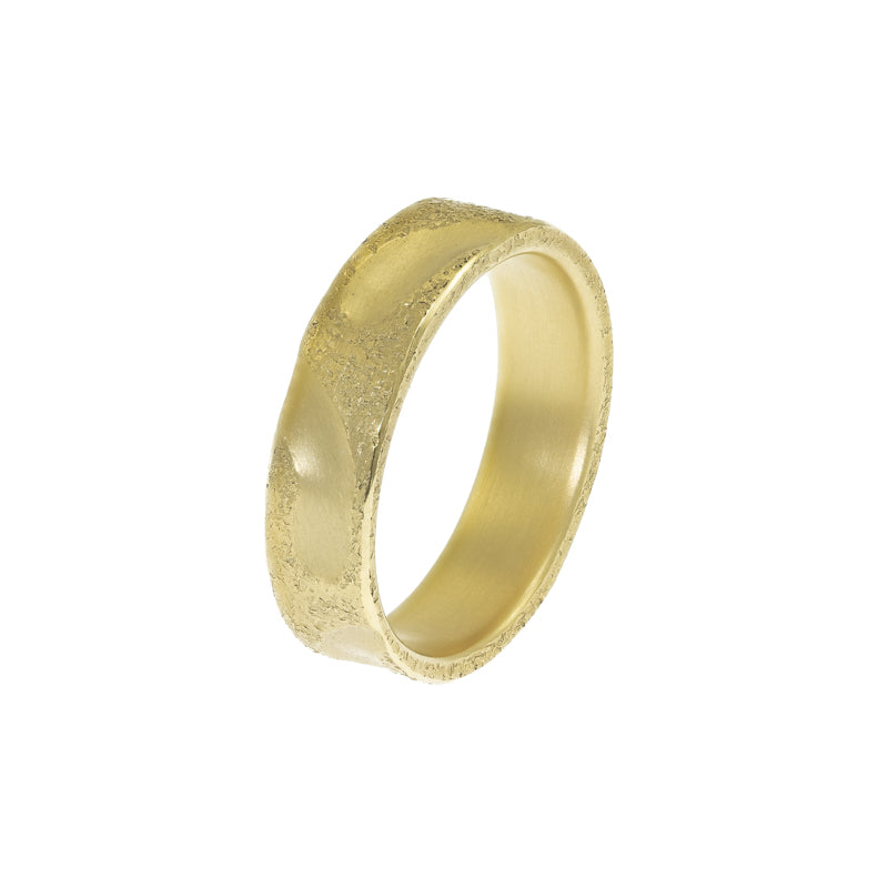 Women's 14K Gold Carved Band - Hozoni Designs