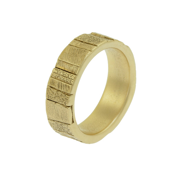 Men's 14K Gold Recycled Band - Hozoni Designs