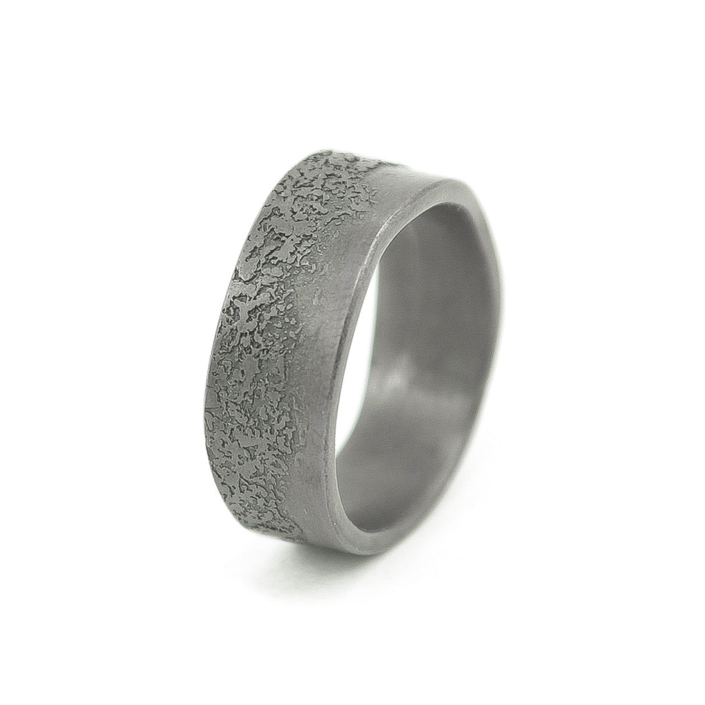 Men's Sterling Silver Organic Band-6-Hozoni Designs
