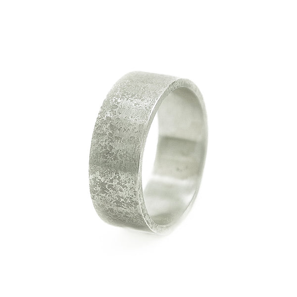 Men's Sterling Silver Rustic Band - Hozoni Designs