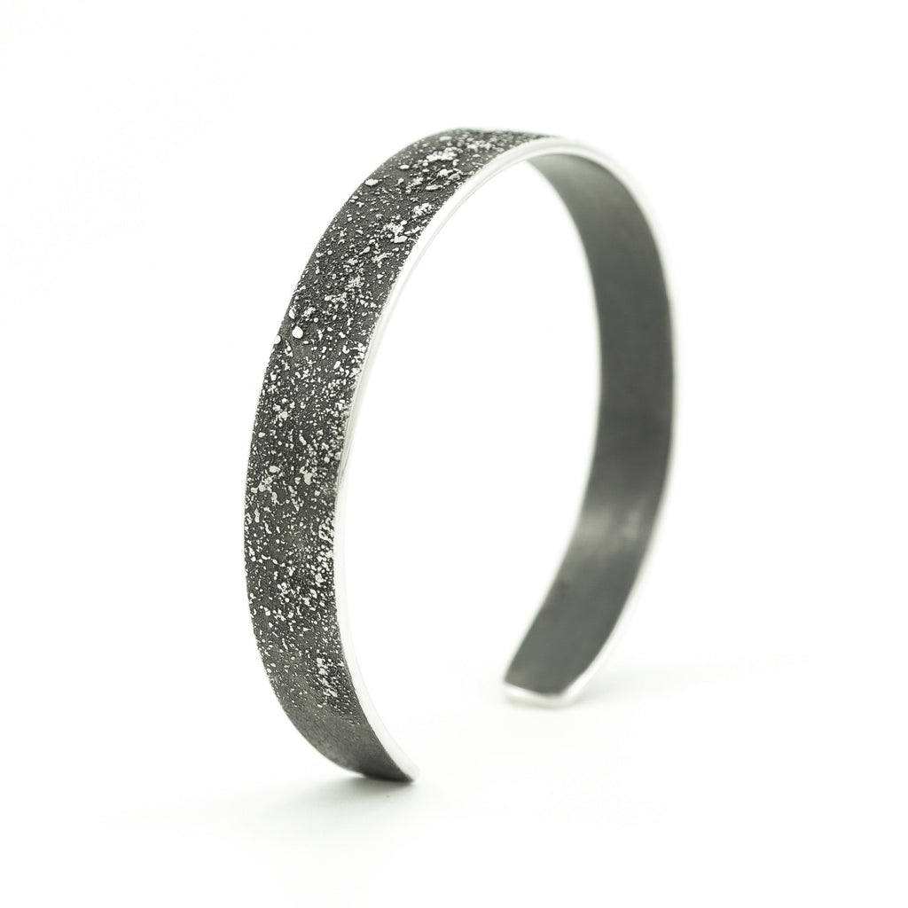 Sterling Silver Cuff Bracelet with Organic Texturing-Hozoni Designs