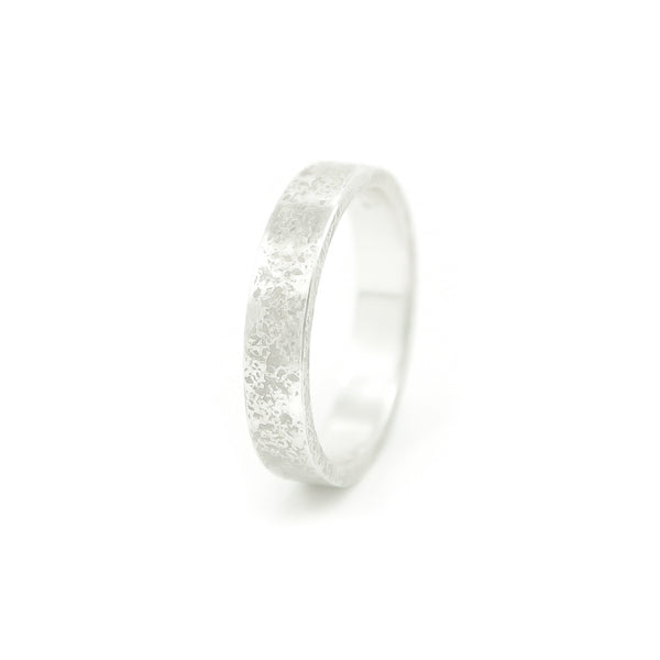 Women's Sterling Silver Rustic Band - Hozoni Designs