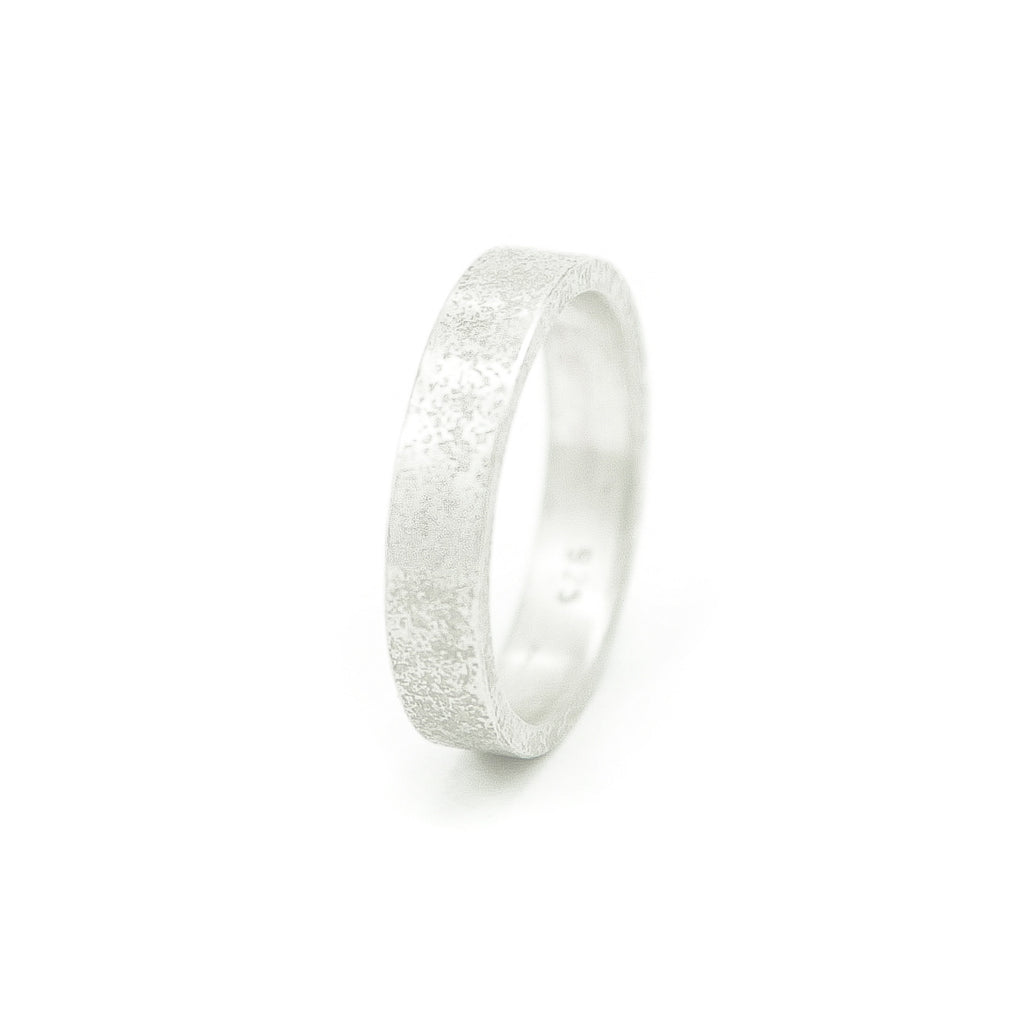 Women's Sterling Silver Rustic Band-4-Hozoni Designs