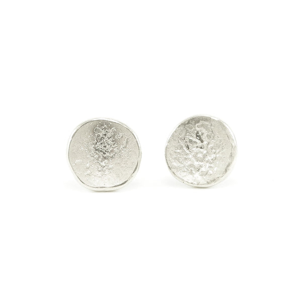 Sterling Silver Organic Stud Earrings-Polished-Hozoni Designs