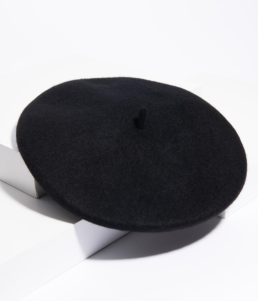 Mon Amour Beret x  Unique Vintage in Black
