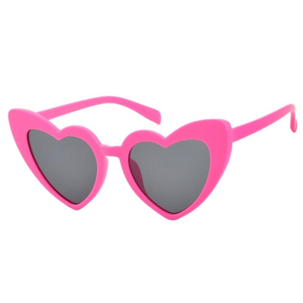 Kitten Heart Sunglasses in Fuchsia - Lulabites
