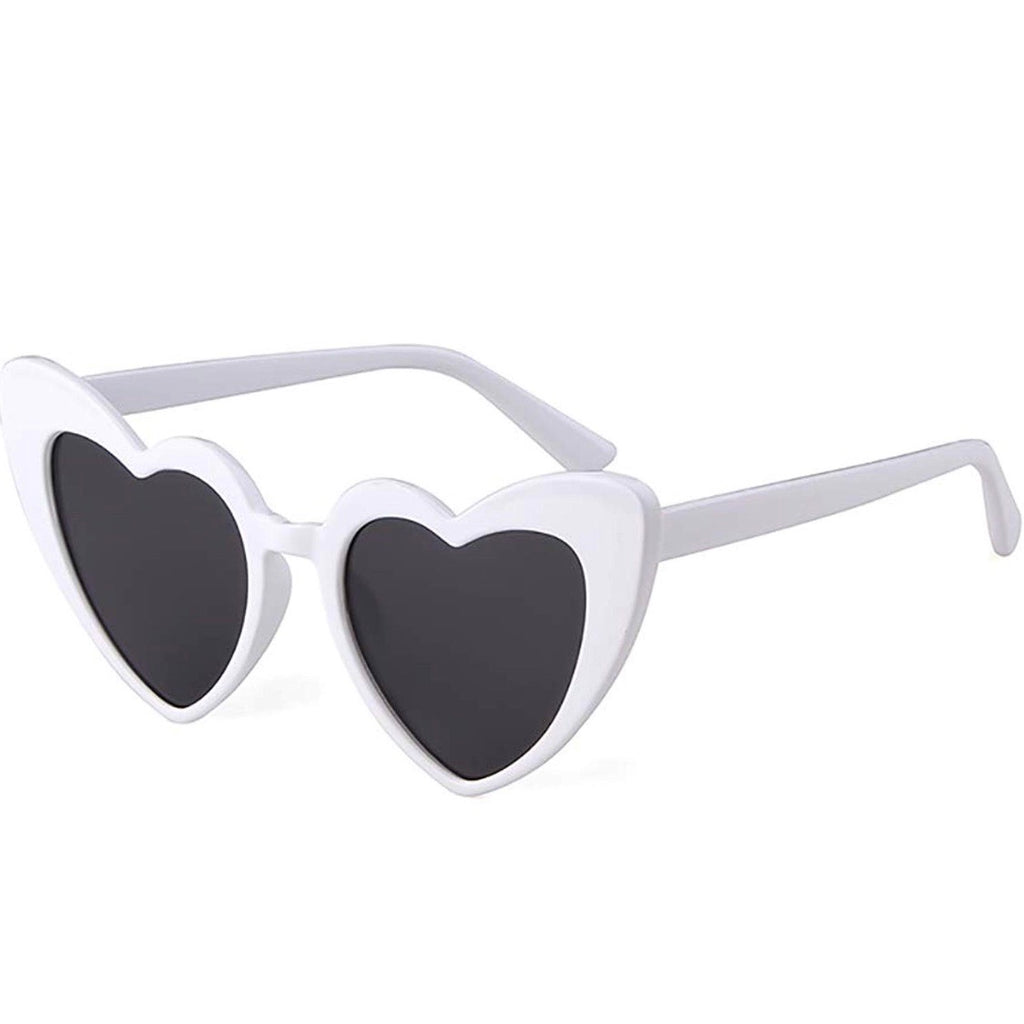 Kitten Heart Sunglasses in White - Lulabites