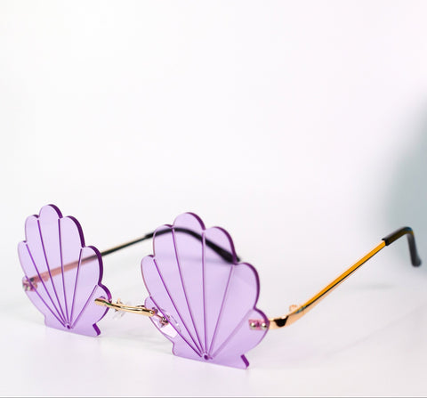 See Shell Sunglasses Purple