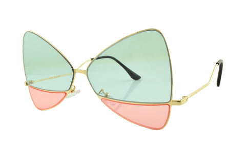 Bow Sunglasses Green/Pink - Lulabites