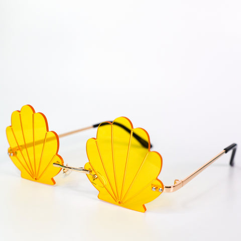 See Shell Sunglasses Yellow