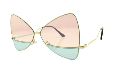 Bow Sunglasses Pink/Green - Lulabites
