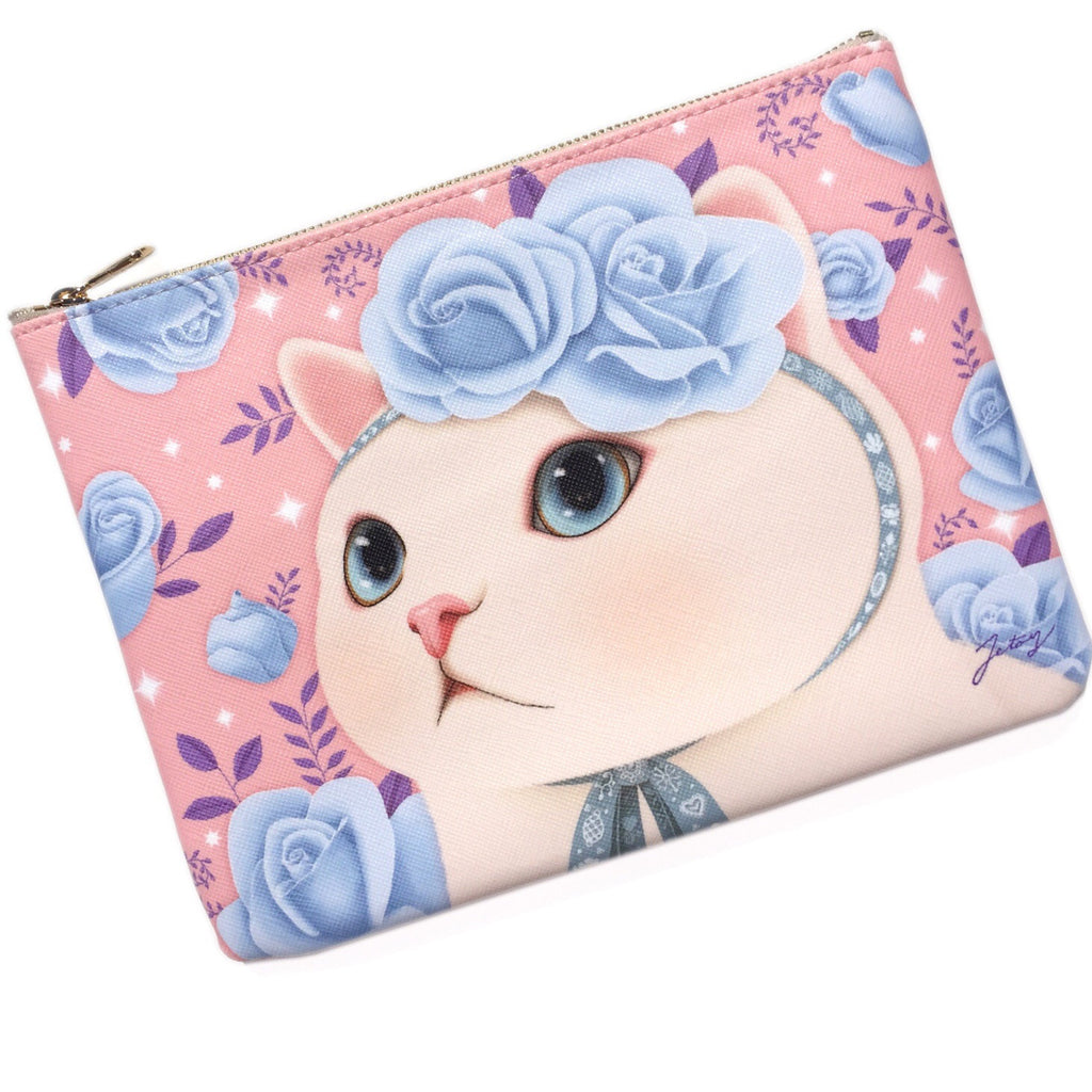 Blue Rose Vanilla Clutch Bag - Lulabites