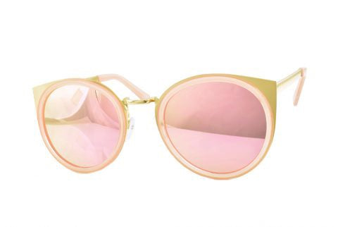 Round Cat Sunglasses in Rose Gold - Lulabites