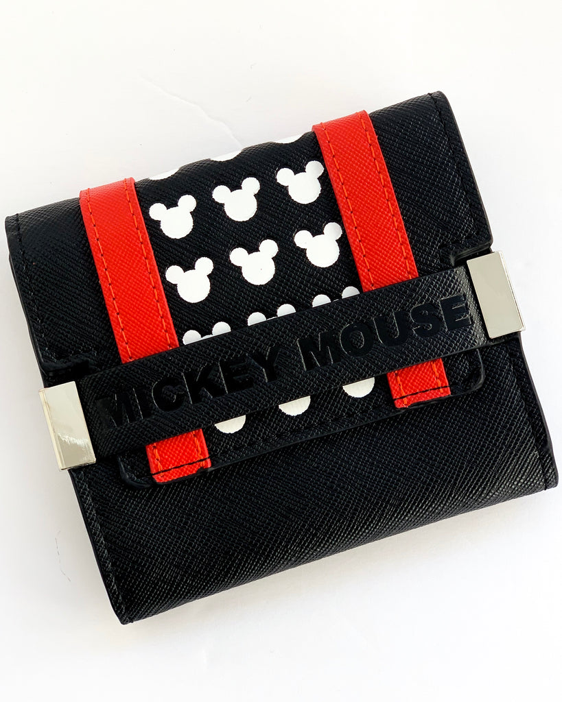 Mickey Mouse Red Striped Trifold Wallet x Loungefly - Lulabites