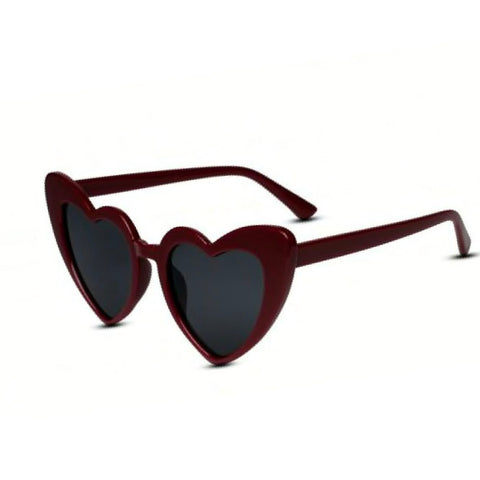Kitten Heart Sunglasses in Wine/Plum - Lulabites