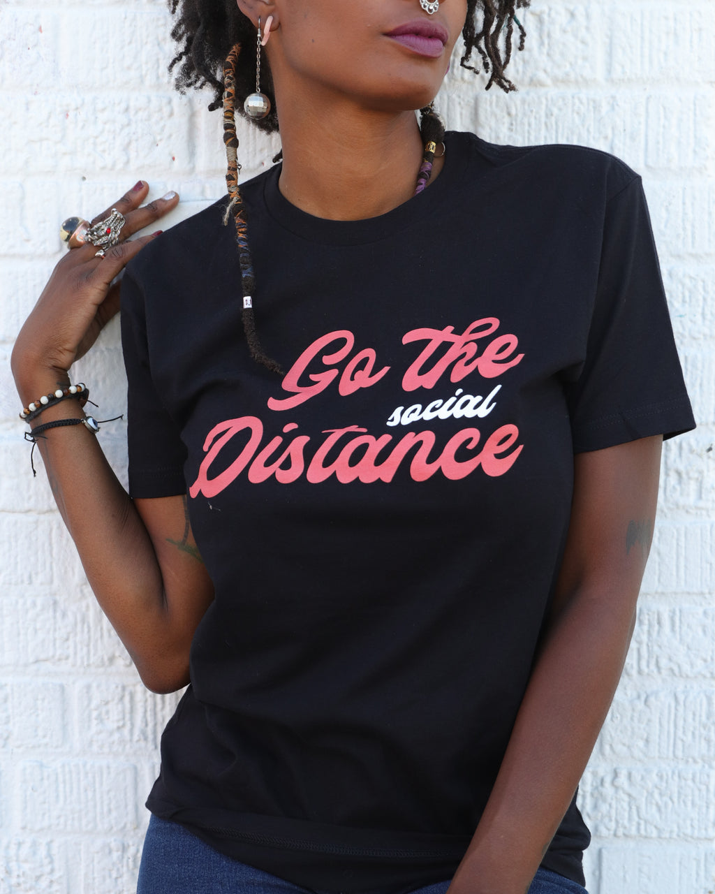 Go the Social Distance Tee x Unique Vintage