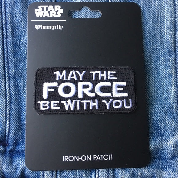 Star Wars May the Force Be With You Iron-on Patch x Loungefly