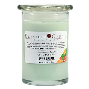 Cool Citrus Basil Premium Madison Soy Jar Candle