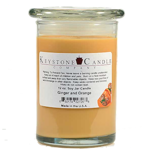 Ginger & Orange Premium Madison Soy Jar Candle