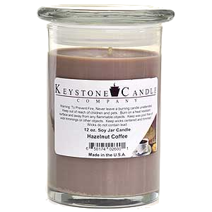 Hazelnut Coffee Premium Madison Soy Jar Candle