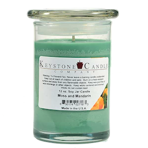 Moss & Mandarin Premium Madison Soy Jar Candle