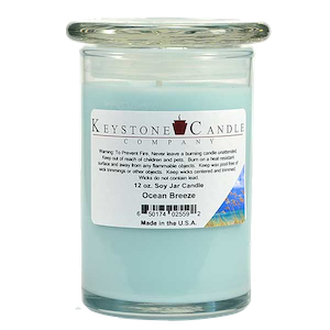 Ocean Breeze Premium Madison Soy Jar Candle
