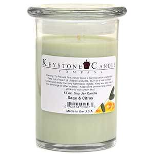 Sage & Citrus Premium Madison Soy Jar Candle