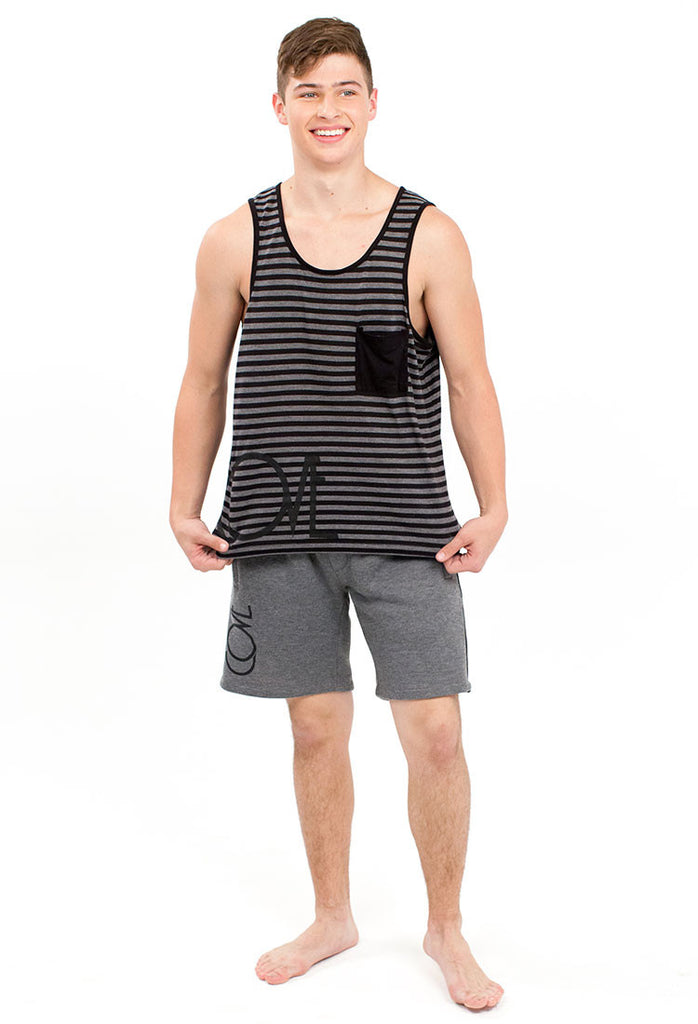 Stripe Tank - Kids Small - Cove - 2