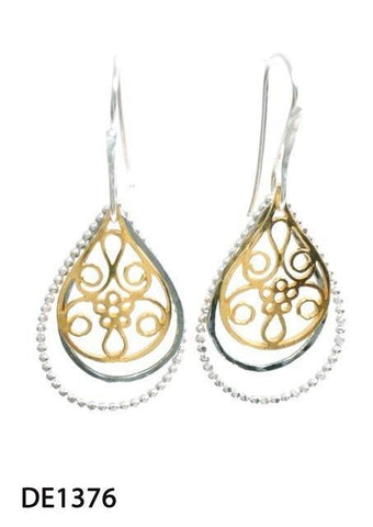 Sterling Silver,Gold Plated Earrings