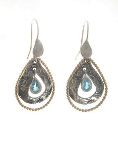 Sterling Silver, Gold Filled, Blue Topaz Earrings